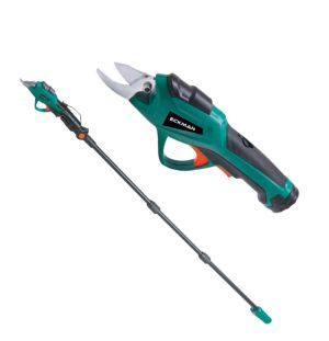 2-in-1 Cordless Electric Pruner with Telescopic Pole